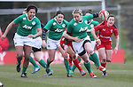 Ireland fullback Niamh Briggs on the charge.<br /> 6 Nations Championship<br /> Wales v Ireland Women<br /> St Helens Swansea<br /> 15.03.15<br /> &copy;Steve Pope - SPORTINGWALES