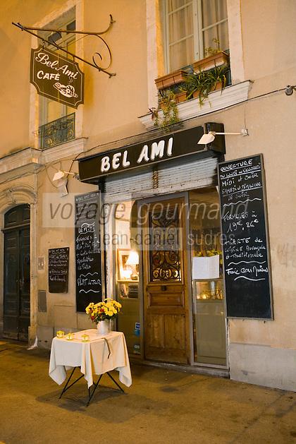 "Europe/France/Languedoc-Roussillon/30/Gard/Nîmes: Restaurant ""Bel Ami Café"""