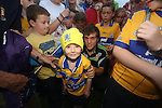 Clare Hurling fan Tadgh Duffy pictured at  the Open Training Night on Tuesday. Pic. Brian Arthur/ Press 22.