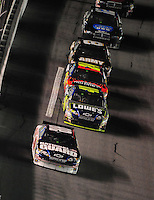 Feb 9, 2008; Daytona, FL, USA; Nascar Sprint Cup Series driver Dale Earnhardt Jr (88) leads teammates Jimmie Johnson (48) and Jeff Gordon (24) during the Bud Shootout at Daytona International Speedway. Mandatory Credit: Mark J. Rebilas-US PRESSWIRE