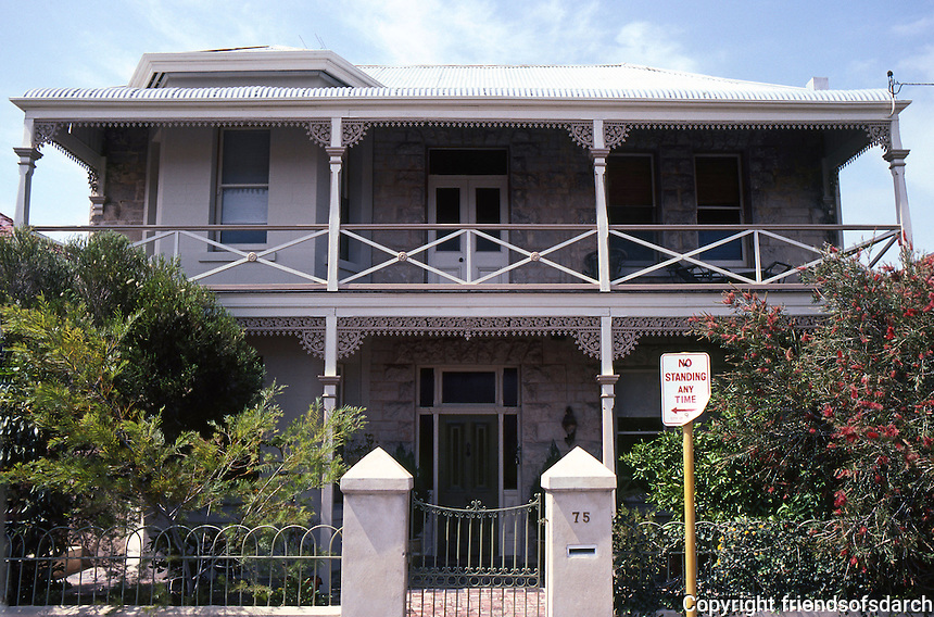 Fremantle: No. 75 Ellen St.--balconied house. Photo '82.