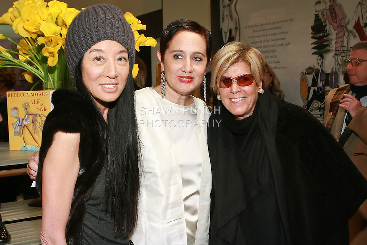 "Vera Wang, Rebecca Moses, and Suze Orman at the Rebecca Moses ""A Life of Style"" book signing at Fratelli Rossetti Boutique, November 11, 2010."