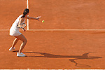 Jelena Jankovic of Serbia plays an afternoon match at the Foro Italico in Rome during the Internazionali BNL d'Italia tennis tournament on May 14, 2008.