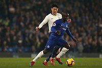 Son Heung-Min of Tottenham Hotspur and Ngolo Kante of Chelsea during Chelsea vs Tottenham Hotspur, Premier League Football at Stamford Bridge on 27th February 2019