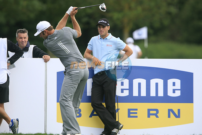 Dustin Johnson (USA) and Martin Kaymer (GER) wait to tee off on the 11th tee during Day 2 of the BMW International Open at Golf Club Munchen Eichenried, Germany, 24th June 2011 (Photo Eoin Clarke/www.golffile.ie)