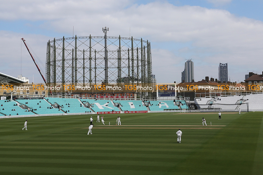 General view of play during Surrey CCC vs Essex CCC, Specsavers County Championship Division 1 Cricket at the Kia Oval on 11th April 2019