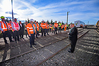 Provincial Growth Fund railway project launch at C3 in Masterton, New Zealand on Tuesday, 2 July 2019. Photo: Dave Lintott / lintottphoto.co.nz