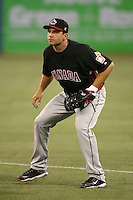 March 7, 2009:  First Baseman Joey Votto (19) of Canada before the first round of the World Baseball Classic at the Rogers Centre in Toronto, Ontario, Canada.  Team USA defeated Canada 6-5 in both teams opening game of the tournament.  Photo by:  Mike Janes/Four Seam Images