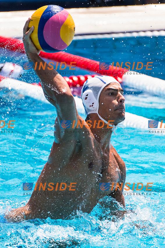 2 DI FULVIO FrancescoITA<br /> ITA(white) vs GEO(blue) Men<br /> LEN European Water Polo Championships 2014 - July 14-27<br /> Alfred Hajos -Tamas Szechy Swimming Complex<br /> Margitsziget - Margaret Island<br /> Day04 - July 17 <br /> Photo G. Scala/Inside/