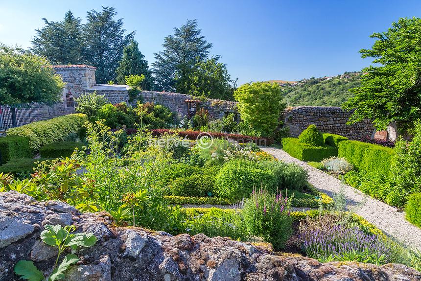 France, Loire (42), Saint-Étienne, Saint-Victor-sur-Loire, le jardin du château