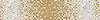"8 1/4"" Mist  border, a hand-cut stone mosaic, shown in polished Calacatta Tia, Crema Marfil, and Renaissance Bronze."
