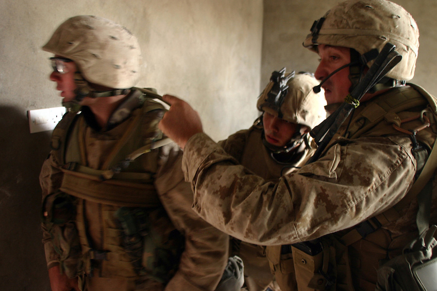 Marine Officers in action in Iraq 2004-2005.