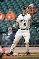 Missouri TIger Brett Nicholas against the Houston Cougars on Friday March 5th, 2100 at the Astros College Classic in Houston's Minute Maid Park.  (Photo by Andrew Woolley / Four Seam Images)