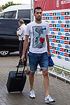 Spainsh Sergio Busquets  arriving at the concentration of the spanish national football team in the city of football of Las Rozas in Madrid, Spain. August 28, 2017. (ALTERPHOTOS/Rodrigo Jimenez)