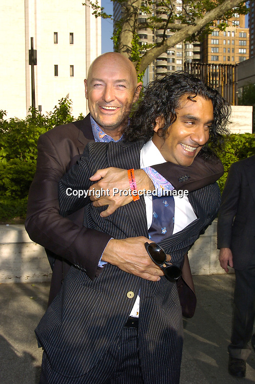 Terry O'Quinn and Naveen Andrews of Lost ..at The ABC Upfront Announcement of Their Fall Schedule on May 17, 2005 at Lincoln Center...Photo by Robin Platzer, Twin Images