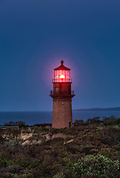 Gay Head Lighthouse at night, Aquinnah, Martha's Vineyard, Massachusetts, USA