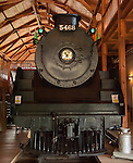 Engine #5468 located in the museum at Revelstoke, BC, Canada