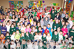Students, teachers and parents from Kilgobnet NS, Beaufort celebrate receiving a HSE Health Promotin department award from Anne Curtin HSE in the school on Friday   Copyright Kerry's Eye 2008