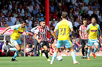Neal Maupay of Brentford in action during Brentford vs Rotherham United, Sky Bet EFL Championship Football at Griffin Park on 4th August 2018