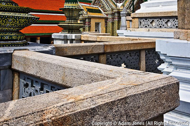 Upper Terrace, Wat Phra Kaeo, Bangkok, Thailand