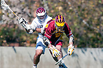 Los Angeles, CA 02/20/10 - \L16\ and Andrew Smulligan (USC # 7) in action during the USC-Loyola Marymount University MCLA/SLC divisional game at Leavey Field (LMU).  LMU defeated USC 10-7.