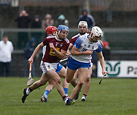 2nd February 2020; TEG Cusack Park, Mullingar, Westmeath, Ireland; Allianz Division 1 Hurling, Westmeath versus Waterford; Jack Fagan (Waterford) gets to the ball ahead of Joey Boyle (Westmeath)
