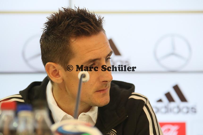 Miroslav Klose - Pressekonferenz der Deutschen Nationalmannschaft zur WM-Vorbereitung in St. Martin
