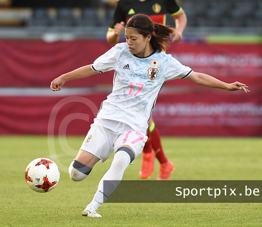 20170613 - LEUVEN ,  BELGIUM : Japanese Yui Hasegawa pictured during the female soccer game between the Belgian Red Flames and Japan , a friendly game before the European Championship in The Netherlands 2017  , Tuesday 13 th Juin 2017 at Stadion Den Dreef  in Leuven , Belgium. PHOTO SPORTPIX.BE | DIRK VUYLSTEKE