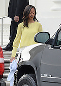 Malia Obama leaves the North Portico of the White House to attend a Church service April 20 2014 in Washington, DC. <br /> Credit: Olivier Douliery / Pool via CNP