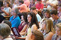 Orientation 2018: General Assembly for incoming students and their parents in Lee Hall's Bettersworth Auditorium.<br />  (photo by Megan Bean / &copy; Mississippi State University)