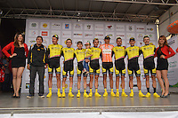 BOYACA - COLOMBIA: 11-09-2016. EBSA equipo ganador de la 38 versión de la vuelta Ciclista a Boyaca 2016 que se corre entre  Sora y Tunja. La prueba se corre entre el  7 y el 11 septiembre de 2016./ Ebsa team winner of the Vuelta a Boyaca 2016 that took place between village of Sora and Tunja city. The race is held between 7 and 11 of September of 2016 . Photo:  VizzorImage/ José Miguel Palencia / Liga Ciclismo de Boyaca