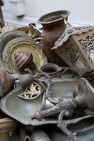 Tripoli, Libya - Antique Metal Work, Copper Market (Suq al-Ghizdir), Tripoli Medina (Old City).