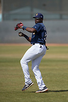 Milwaukee Brewers right fielder Demi Orimoloye (52) during a Minor League Spring Training game against the Kansas City Royals at Maryvale Baseball Park on March 25, 2018 in Phoenix, Arizona. (Zachary Lucy/Four Seam Images)