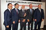 XIV Sopar Solidari de Nadal.<br /> Esport Solidari Internacional-ESI.<br /> Josep Vives, Josep M. Bartomeu, Josep Maldonado, Jordi Cardoner &amp; Oscar Grau.