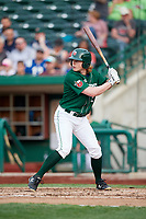 Fort Wayne TinCaps right fielder Jack Suwinski (2) at bat during a game against the West Michigan Whitecaps on May 17, 2018 at Parkview Field in Fort Wayne, Indiana.  Fort Wayne defeated West Michigan 7-3.  (Mike Janes/Four Seam Images)