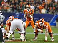 Charlotte, NC - December 2, 2017: Clemson Tigers quarterback Kelly Bryant (2) calls a play during the ACC championship game between Miami and Clemson at Bank of America Stadium in Charlotte, NC.  (Photo by Elliott Brown/Media Images International) Clemson defeated Miami 38-3 for their third consecutive championship title.