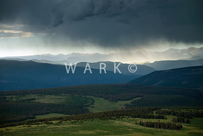 Summer rain east of Pagosa Springs, Colorado. July 2014