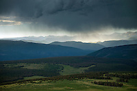 Summer rain east of Pagosa Springs, Colorado. July 2014