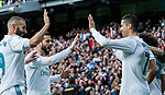 Cristiano Ronaldo of Real Madrid celebrates with teammates during the La Liga 2017-18 match between Real Madrid and Sevilla FC at Santiago Bernabeu Stadium on 09 December 2017 in Madrid, Spain. Photo by Diego Souto / Power Sport Images