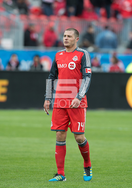 24 March 2012: Toronto FC forward Danny Koevermans #14 in action during a game between the San Jose Earthquakes and Toronto FC at BMO Field in Toronto..The San Jose Earthquakes won 3-0..