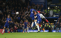 Manchester United's Paul Pogba scores his side's second goal <br /> <br /> Photographer Rob Newell/CameraSport<br /> <br /> Emirates FA Cup Fifth Round - Chelsea v Manchester United - Monday 18th February - Stamford Bridge - London<br />  <br /> World Copyright © 2019 CameraSport. All rights reserved. 43 Linden Ave. Countesthorpe. Leicester. England. LE8 5PG - Tel: +44 (0) 116 277 4147 - admin@camerasport.com - www.camerasport.com