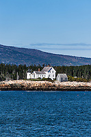 Mark Island Lighthouse, Winter Harbor, Maine, ME, USA
