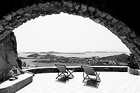 stone terrace arch