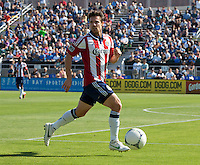 Santa Clara, California - Sunday May 13th, 2012: Alejando Moreno of Chivas USA in action during a Major League Soccer match against San Jose Earthquakes at Buck Shaw Stadium