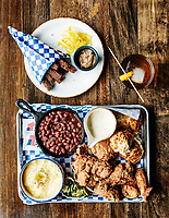 A fried chicken dish at Julep Restaurant in Denver, Colorado, Friday, July 20, 2018. <br /> <br /> Photo by Matt Nager
