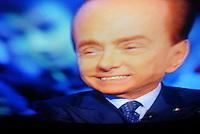 """10/01/2013   Berlusconi in tv da Santoro a """"Servizio Pubblico"""""""