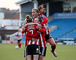 Jade Pennock of Sheffield Utd celebrates her goal with team mates during the The FA Women's Championship match at the Proact Stadium, Chesterfield. Picture date: 8th December 2019. Picture credit should read: Simon Bellis/Sportimage