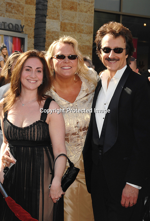 Stehanie Sloane and Carolyn Hinsey with Michael Logan..arriving at The 34th Annual Daytime Emmy Awards on ..June 15, 2007 at The Kodak Theatre in Hollywood, California. ..Robin Platzer, Twin Images......212-935-0770