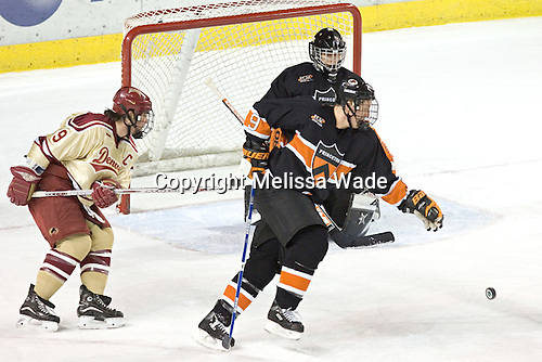 Gabe Gauthier, Grant Goeckner-Zoeller, Eric Leroux - The Princeton University Tigers defeated the University of Denver Pioneers 4-1 in their first game of the Denver Cup on Friday, December 30, 2005 at Magness Arena in Denver, CO.