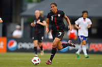 14 MAY 2011: USA Women's National Team midfielder Shannon Boxx (7) dribbles the ball during the International Friendly soccer match between Japan WNT vs USA WNT at Crew Stadium in Columbus, Ohio.